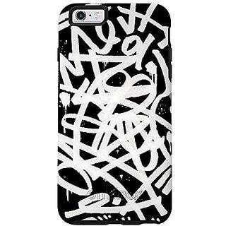 OtterBox Symmetry Series iPhone 6/6s Case - Retail Packaging - Graffiti (Black/Black/Graffiti Graphic)