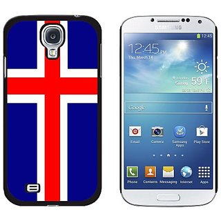 Graphics and More Iceland Flag Snap-On Hard Protective Case for Samsung Galaxy S4 - Non-Retail Packaging - Black