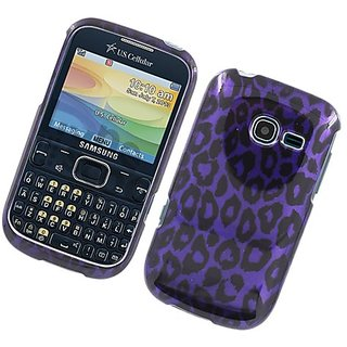 Eagle Cell Samsung Freeform 5/R480C Glossy 2D Cover - Retail Packaging - Purple Leopard