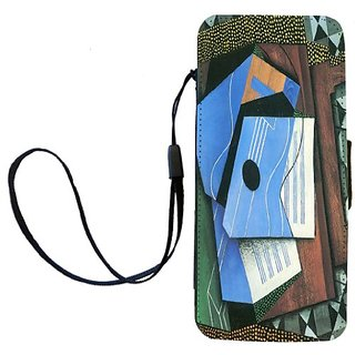 Rikki Knight Juan Gris Art Table with Blue Guitar Flip Wallet iPhoneCase with Magnetic Flap for iPhone 5/5s - Table with