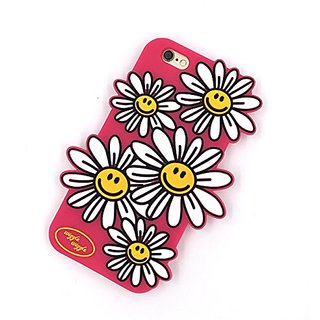 iPhone 6S Plus Case, MC Fashion Beautiful 3D Daisy Flower Floral Protective Silicone Phone Case Compatible for Apple iPh