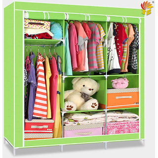 EI Stylish & Foldable Canvas Cupboard, Cabinet, Almirah, Wardrobe, GrassGreen available at ShopClues for Rs.6599