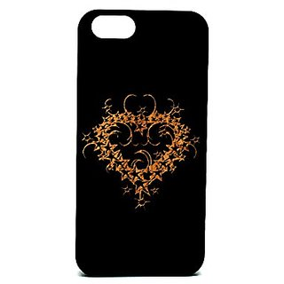 Krezy Case Cell Phone Case for iPhone 6/6S - Retail Packaging - Laser Engraved, Heart Design/Black