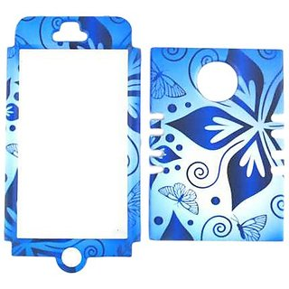 Cell Armor I5-RSNAP-TE582 Snap-On Case for iPhone 5 - Retail Packaging - Flower on Blue