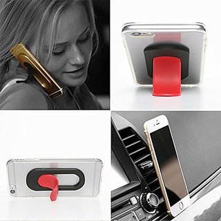 iTongue Car Mount Holder, Smart Phone Stand For Any Phone, I-Series Red Tougue-Black Sleeve