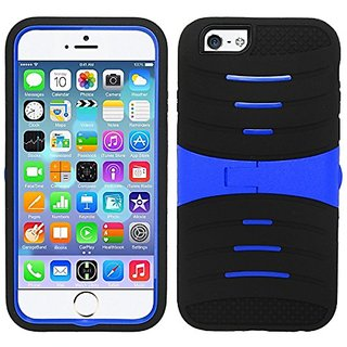 Cell Phone Cover UCASE Cover With Kickstand and Screen Installed For iPhone 6 - Black/Blue UCASE