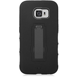 Eagle Cell Armor Protective Case with Stand for Samsung Galaxy S6 - Retail Packaging - Black