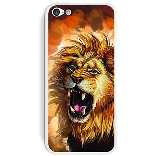 Graphics and More Fierce Lion Roar - Big Cat Africa Protective Skin Sticker Case for Apple iPhone 5C - Set of 2 - Non-Re