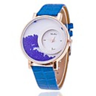 Women Wadding New Leather Dimond Dial Blue Girls watches By sports