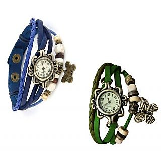 Combo watches for women - Stylish Blue  Green Watches for women BY sports
