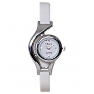 Glory White Round Women Watches by Sports