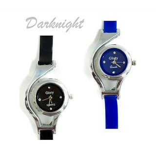 Glory BlackBlue combo pack glory watches analog for women by Sports