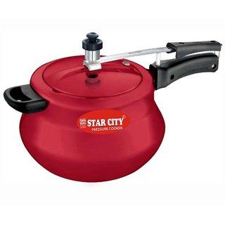 Pressure cooker Red 3 Ltr (handi) Aluminium