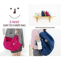 3 Way Easy To Carry Folding Bag (Shoulder Bag, Backpack And Cross Bag)