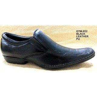 Trax Stylish Men's Black Formal Shoes - Option 43