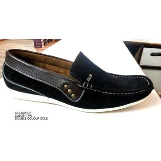 Trax Stylish Men's Black Casual Shoes - Option 2