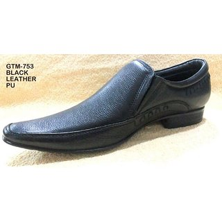 Trax Stylish Men's Black Formal Shoes - Option 35
