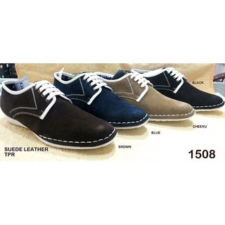 Trax Stylish Men's Black Casual Shoes