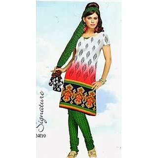 Crape Synthetic Designer Printed Dress Material 24019