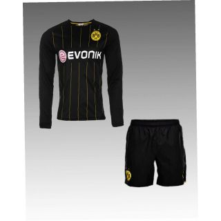 Black color long sleeve Imported football Jersey and game set