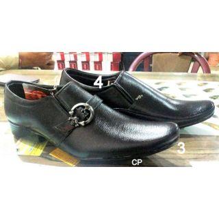 Trax Stylish Men's Black Formal Shoes - Option 2