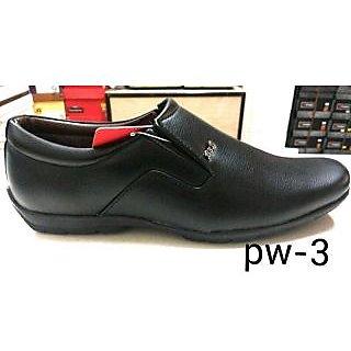 Trax Men's Black Formal Shoes
