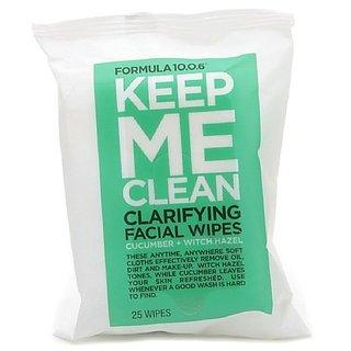 Formula 10.0.6 Keep Me Clean Clarifying Facial Wipes, Cucumber + Witch Hazel 25 ea