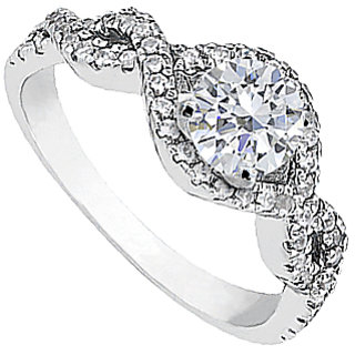1 Carat Diamond Engagement Ring In White Gold 14K