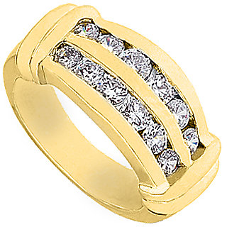 14K Yellow Gold Channel Set Fashion Diamond Ring