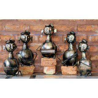 handicraft iron set of five musician