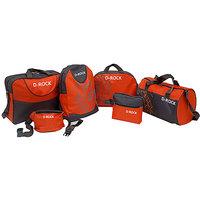 D-Rock Set of 6 Orange Gray Polyester Bags For Unisex