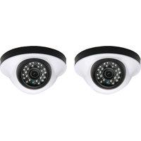 EwareHD Security Camera CCTV Night Vision Dome 2 PCS Camera 1000TVL With 1 Year Warranty(2 PCS CAMERA)