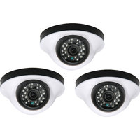 EwareHD Security Camera CCTV Night Vision Dome 3 PCS Camera 1000TVL With 1 Year Warranty(3 PCS CAMERA)