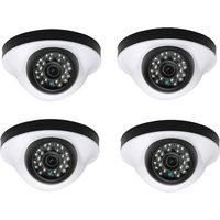 EwareHD Security Camera CCTV Night Vision Dome 4 PCS Camera 1000TVL With 1 Year Warranty(4 PCS CAMERA)