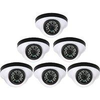 EwareHD Security Camera CCTV Night Vision Dome 6 PCS Camera 1000TVL With 1 Year Warranty(6 PCS CAMERA)