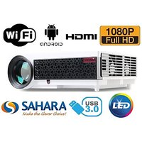 Sahara Sd 858 FULLHD 3D LED  Projector 100,000Hrs Lamp Life 1 Year Warranty