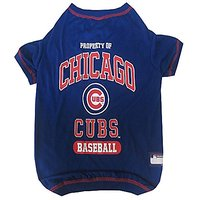 Pets First MLB Chicago Cubs Dog Tee Shirt, Small