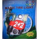 1 Pack of Two Magic Flash Wheel Lights For All Bikes And Cars