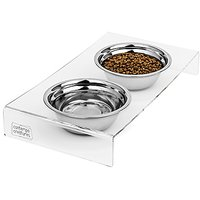 Elevated Stainless Steel Dog And Cat Food Bowls With Acrylic Stand