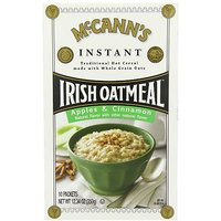 McCANNS Instant Irish Oatmeal, Apple & Cinnamon, 12.3-Ounce Boxes (Pack Of 6)