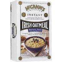 McCanns Instant Irish Oatmeal Variety Pack Of Regular, Apples & Cinnamon, And Maple & Brown Sugar, 10 Ct