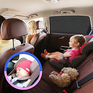 Auto Luxuria Universal Car Window SunShade Covers - UV Protection For Your Baby / Toddler / Kids / Pets From Strong Sun