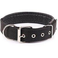 DORA Dog Collar Nylon Neoprene Padded Dog Collar Classic Comfort Adjustable Sizes (L: 1.1822.83, Black)