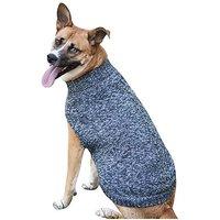 Fashion Pet Tonal Marled Dog Sweater, Small, Blue