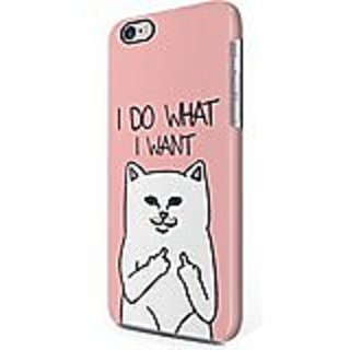 Funny Cat Middle Finger I Do What I Want Hard Plastic iPhone 6 Plus / iPhone 6S Plus Phone Case Cover