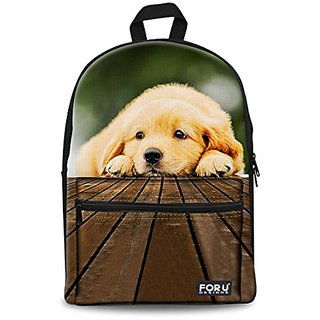 HUGSIDEA Women Travel Backpack Bag Cute Dog School Bookbags