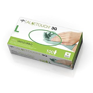 MDS195176 - Aloetouch 3G Powder-Free Latex-Free Synthetic Exam Gloves,Large