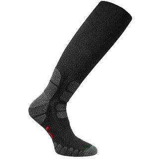 Eurosocks 0124 Patented Performance All Around Outdoor Compression Socks, Black, Medium