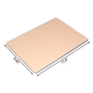 Irctek Waterproof Nonslip Fashionable Aluminium Alloy Mouse Pad 11.89.45 inch (Gold)