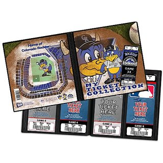 MLB Colorado Rockies Dinger Ticket Album, One Size